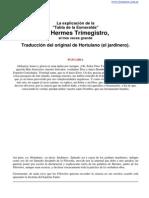 Hermes Trimegistro - Tabla de La Esmeralda