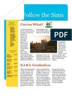 The Sims' Newsletter--March to July, 2009