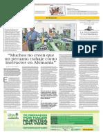 Entrevista El Comercio a Egresado, Caso Exitoso
