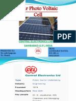 GANDHARAV KATYAL SOLAR CELL MANUFACTURING PPT