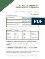Ficha de gramática el imperativo uso y formación en verbos regulares