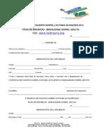 FICHA DE INSCRIÇÃO - MODALIDADE GOSPEL ADULTO