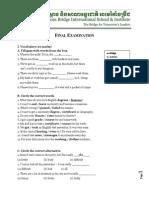 Final Exam_Elementary 2 - Chann Veasna