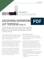 Gegevens Exporteren Uit TOPdesk (deel2)