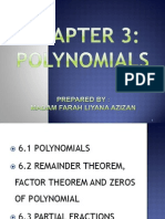 Chapter 3 Polynomials S