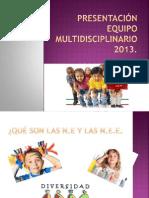 Presentación equipo multidisciplinario 2013