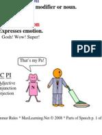 Grammar Rules - Parts of Speech