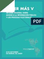 Saber Más V Acceso a la Información y los Procesos Electorales
