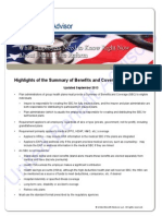Highlights of the Summary of Benefits and Coverage Requirement