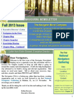 Navigators Inaugural Newsletter - Fall 2013