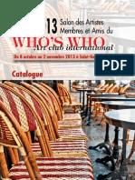 Catalogue SAM2013 - Salon des Artistes Amis et Membres