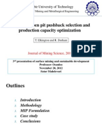 Integrated Open Pit Pushback Selection and Production Capacity Optimization