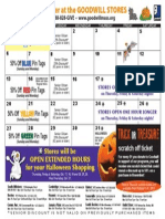 Goodwill's October Retail Calendar