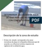 Determinar La Calidad de Agua de Mar Para