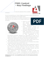 ISO27001 2013 Control Changes - Key Findings