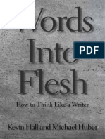 """Mockup of front cover, """"Words Into Flesh,"""" 5.5 x 8.25"""