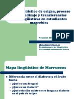 Mapa lingüístico de origen, proceso de aprendizaje y transferencias interlingüísticas en estudiantes magrebíes