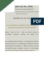 Republic Act No 6981 - Witness Protection Program.docx
