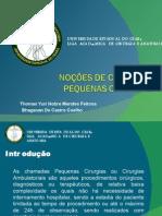 Aula sobre Pequenas Cirurgias - Liga Acadêmica De Cirurgia e Anatomia - Universidade Estadual do Ceará