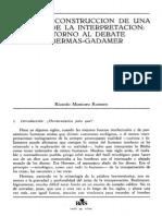 Sobre El Debate Gadamer Habermas