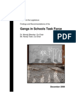 Washington State Gangs in Schools Task Force Report 2008