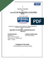 Vishal Mega Mart Final Project Vishal