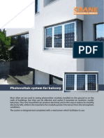 Photovoltaic system for balcony