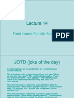 Fixed Income Portfolio Strategies