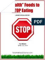 3 Health Foods to Stop Eating - free rebrandable ebook