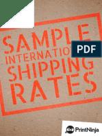 Sample International Shipping Rates