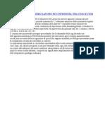 Comunicato Ministero Lavoro Su a Cigo e Cigs