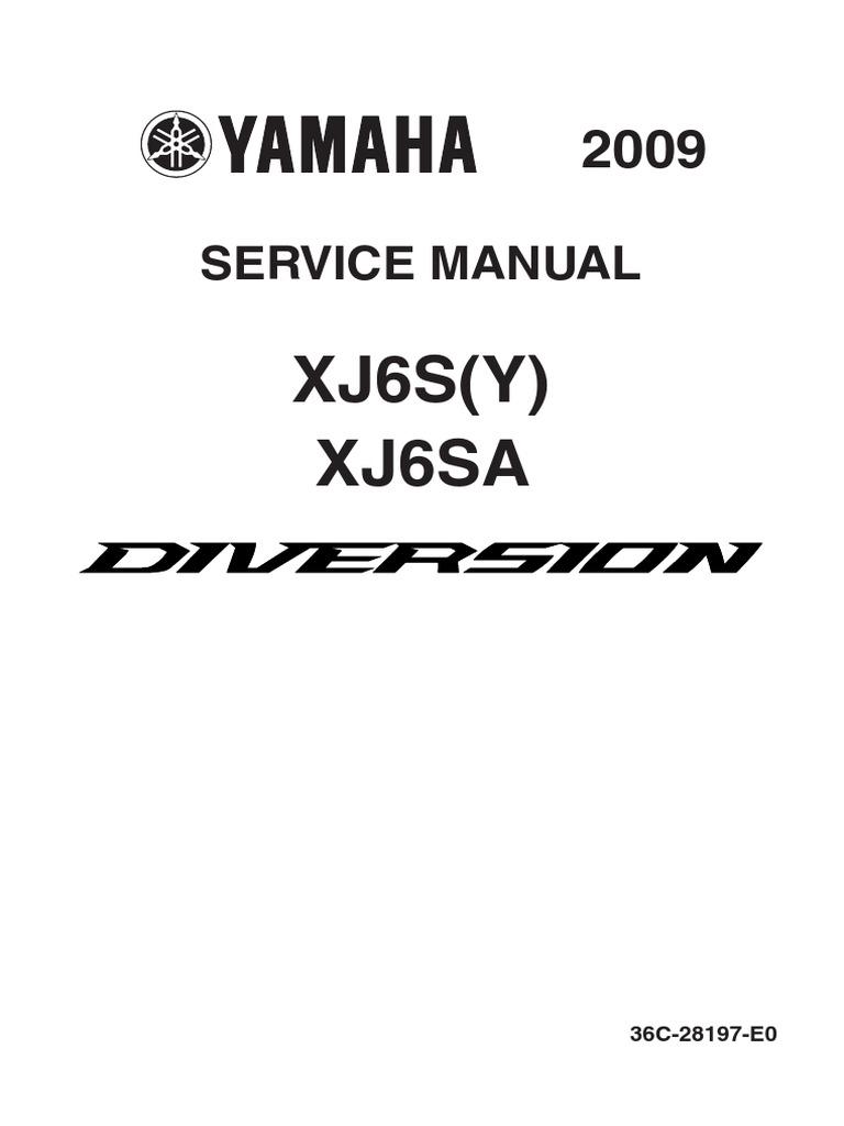 Yamaha Xj6 Manual