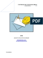 Controle de Custos de Obras (Manual de Operacao)