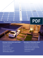 Photovoltaic carport SImple