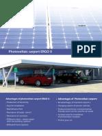 Photovoltaic carport ERGO X