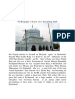 Biography of Hazrat Mirza Sardar Baig Saheb Hyderabad