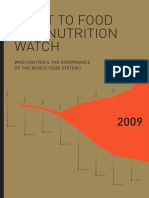 RIGHT TO FOOD AND NUTRITION WATCH - Who controls the governance of the world food system?