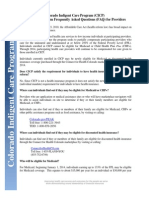 Here's a frequently asked questions document about CICP changes under the ACA