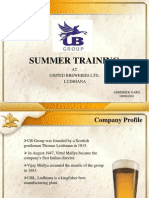 summer training presentation at UNITED BREWERIES LTD.