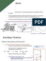 Acid Base Titrations