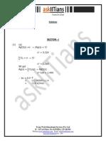 Askiitians Chemistry Test204 Solutions