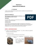 Practica #3 Observacion de Minerales