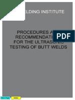 TWI UT of Butt Welds