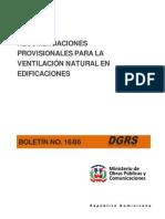 Boletin 16-86 Ventilacion Natural en Edificaciones