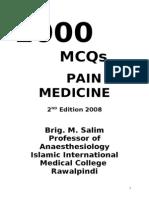 1000 MCQ Book Pain Medicine