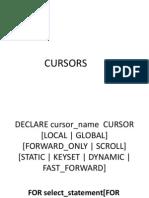 Cursors & Triggers