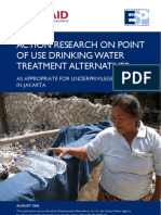 Action Research on Point of Use Drinking Water Treatment Alternatives