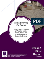 CARFAC Ontario Strengthening the Province Project - Final Report 2013