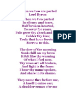 When We Two Are Parted - Lord Byron