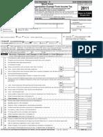 MGF 990 form 2011
